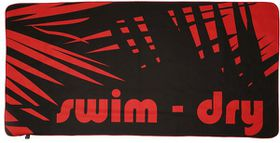 Swim-Dry Seabreeze Microfibre Towel - Orange & Black