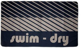 Swim-Dry Seabreeze Plus Microfibre Towel - Navy & Grey