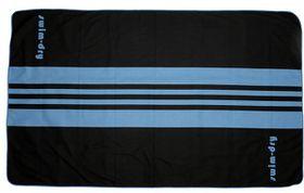 Swim-Dry Seabreeze Plus Microfibre Towel - Blue & Black