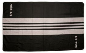 Swim-Dry Seabreeze Plus Microfibre Towel - Grey & Black