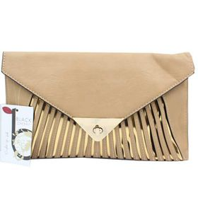 Blackcherry Tan/Gold Clutch - Large