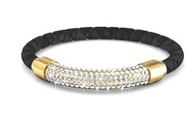 Destiny Lush Bracelet with Swarovski Crystalsi - Black & Gold