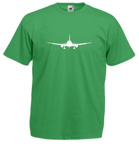 Qtees Africa Aeroplane Green Mens T-Shirt