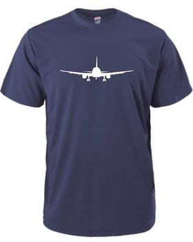 Qtees Africa Aeroplane Navy Mens T-Shirt