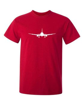 Qtees Africa Aeroplane Red Mens T-Shirt