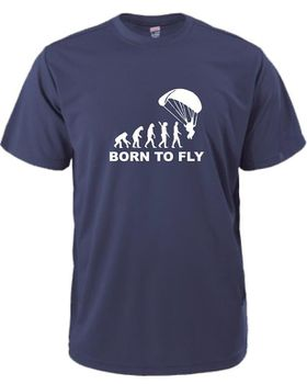 Qtees Africa Born To Fly Navy Mens T-Shirt