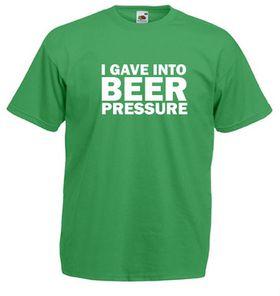 Qtees Africa I Gave Into Beer Pressure Green Mens T-Shirt
