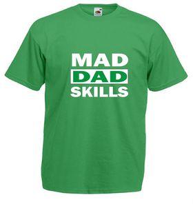 Qtees Africa Mad Dad Skills Green Mens T-Shirt