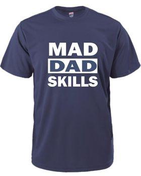 Qtees Africa Mad Dad Skills Navy Mens T-Shirt