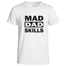Qtees Africa Mad Dad Skills White Mens T-Shirt