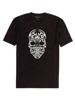 Qtees Africa Skull Shirt Black Mens T-Shirt