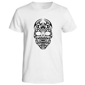 Qtees Africa Skull Shirt White Mens T-Shirt