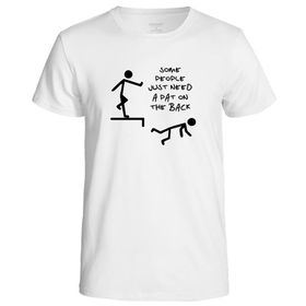 Qtees Africa Some People Just Need A Pat On The Back White Mens T-Shirt