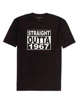 Qtees Africa Straight Outta 1967 Black Mens T-Shirt