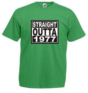 Qtees Africa Straight Outta 1977 Green Mens T-Shirt