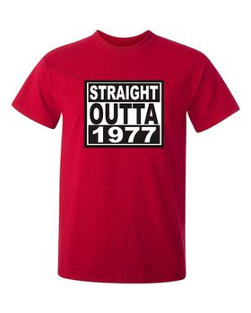 Qtees Africa Straight Outta 1977 Red Mens T-Shirt