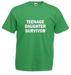 Qtees Africa Teenage Daughter Survivor Green Mens T-Shirt
