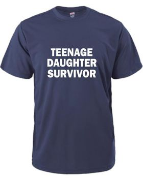 Qtees Africa Teenage Daughter Survivor Navy Mens T-Shirt
