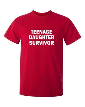 Qtees Africa Teenage Daughter Survivor Red Mens T-Shirt