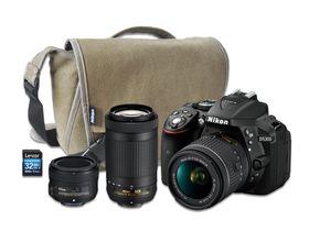 Nikon D5300 DSLR 24MP Triple Lens Value Bundle