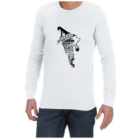Juicebubble A Wizard Is Never Late Long Sleeve Shirt - White