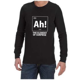Juicebubble Ah! The Element of Surprise Long Sleeve Shirt - Black