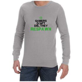 Juicebubble Gamers Don't Die Long Sleeve Shirt - Grey