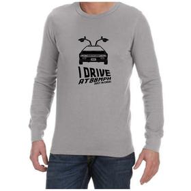 Juicebubble I Drive At 88Mph Long Sleeve Shirt - Grey