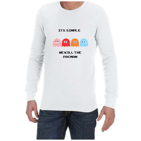Juicebubble It's Simple Long Sleeve Shirt - White