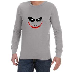 Juicebubble Joker Smile Long Sleeve Shirt - Grey
