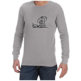 Juicebubble Sad Spaceman Long Sleeve Shirt - Grey