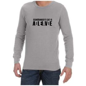 Juicebubble Schrodinger's Cat Long Sleeve Shirt - Grey