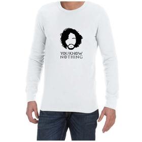 Juicebubble You Know Nothing Long Sleeve Shirt - White