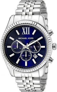 Michael Kors MK8280 Mens Lexington Tone Watch - Silver (Parallel Import)