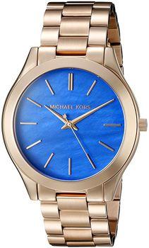 Michael Kors MK3494 Laides Slim Runway Quartz Stainless Steel Watch - Rose Gold Tone (Parallel Import)
