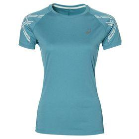 Women's ASICS Stripe Short Sleeve Top