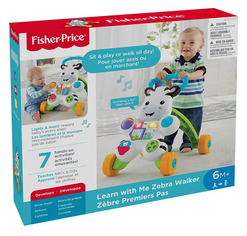 Fisher Price Toys Products Available To Buy Online Infant Learning Toaster Learn With Me Zebra Walker