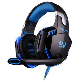 Kotion G2000 3.5mm + USB Gaming Headset with Mic LED Light - Blue & Black