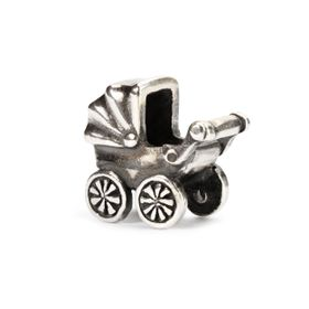 Trollbeads Baby Buggy Sterling Silver Bead