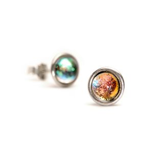 Trollbeads Bilqis Earrings Silver & Glass & Crystal
