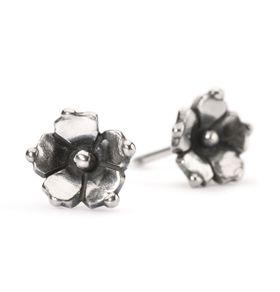 Trollbeads Carolina Jessamine Studs Earrings Silver