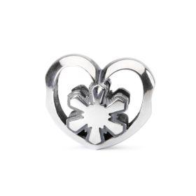 Trollbeads Crystal Heart Sterling Silver Bead