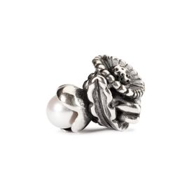 Trollbeads Daisy of April Sterling Silver & Pearl