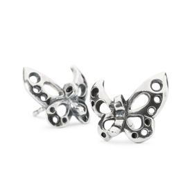 Trollbeads Dancing Butterfly Studs Earrings Silver