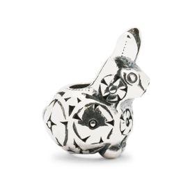 Trollbeads Decorative Rabbit Baby Sterling Silver Bead