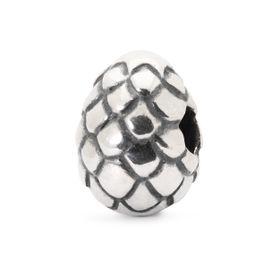 Trollbeads Dragon Egg Sterling Silver Bead