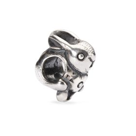 Trollbeads Easter Bunny Sterling Silver Bead
