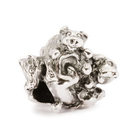 Trollbeads Family of Puppies Sterling Silver Bead