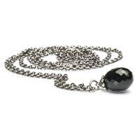 Trollbeads Fantasy Necklace Black Onyx 120cm - Silver & Black Onyx