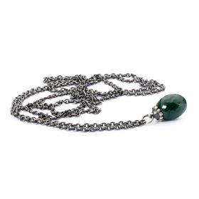 Trollbeads Fantasy Necklace with Malachite 100cm - Silver & Malachite